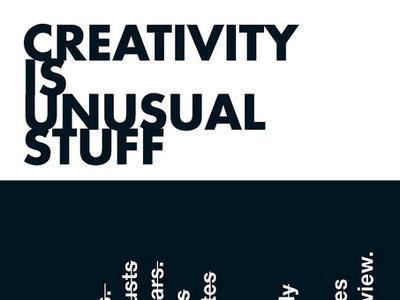 Creativity is unusual stuff naconf screen-printing poster fabrica