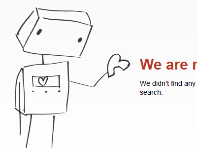 We are really sorry robot