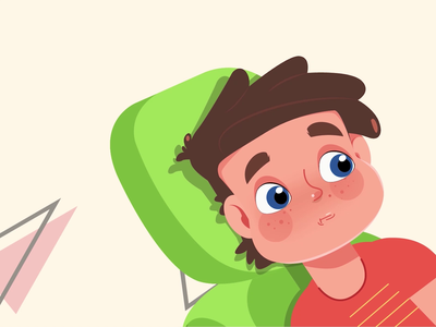 Child at the dental clinic character clinic hospital doctor dental clinic dental child explainer 2d character motion design 2d animation illustration explainer video animation