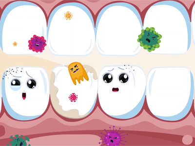 Tooth protection dental clinic dental care dentist dental clinic children kids caries explainer 2d character 2d animation doctor tooth teeth explainer video animation