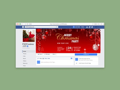 chrismas facebook cover