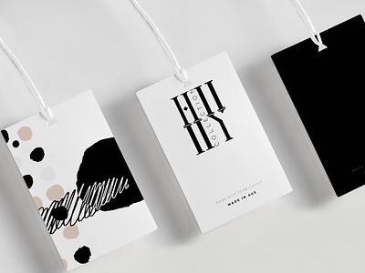 HII YII (TM) - Logo Design clothing tag logo mark simple black and white clothing company logo design typography logo design