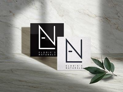 Elodie's Naturals (TM) - Logo Design businesscard cosmetics cosmetic logo branding design simple logo design logo mark logo black and white