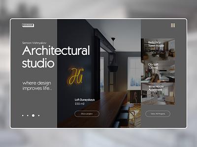 Architectural Studio Website studio ux design furniture real estate website uxui uxdesign webdesign typography