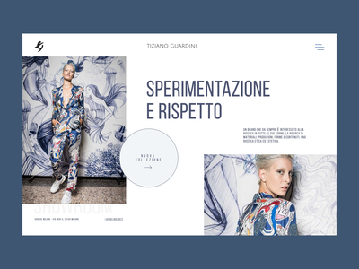 Tiziano Guardini Fashion / Main Page trendy typography ui brand style lookbook photo ecommerce fashion webdesign ux
