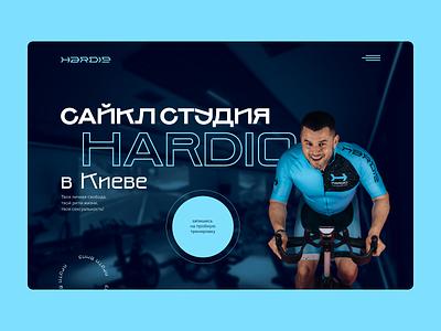 Website for Cycle Studio in Kiyv ui branding landing fitness sport typography uxui uxdesign webdesign ux