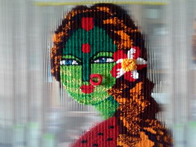 Rupantori the cute girl typography hillsong united wall tapestry weaving girl texture artist art tapestry