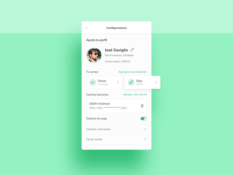 Settings - Daily Ui 007 colombia ux daily ui 007 argentina ux dailyui ui designer daily ui app ux design daily 100 challenge uidesign sketch