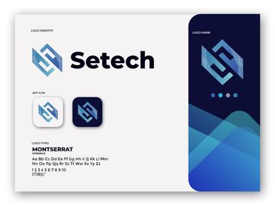 Setech vectorlogo logo logo design letter logo s illustration s letter creative design branding concept brand identity book technology revolve letter hexagon hexa fast around advance abstract logo