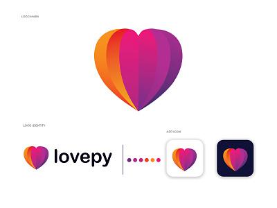 lovepy modern logo design dise illustrator creative graphic logotype marketing illustration logodesigns brand logos designer graphicdesigner art logodesign logodesigner branding graphicdesign design monogram love logo