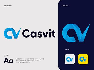 Casvit logo  design (C+V) graphic logotype marketing illustration logodesigns cv brand cv logos designer graphicdesigner art logodesign logodesigner branding graphicdesign design monogram cv letter v c logo