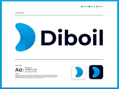 Diboil modern d letter logo logoinspirations icon corporateidentity building techlogo technologylogo realestate flat logomark logomaker brandmark logodesigner appicon app letter logos logo