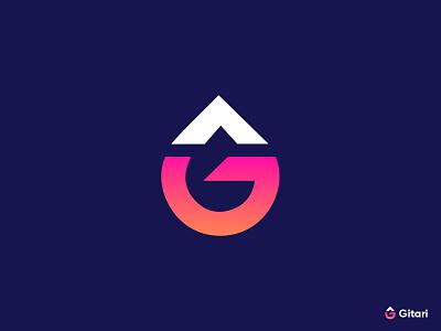 Gitari moder G letter logo design logoart modernlogo modern e-commerce minimalist brandmark logodesigner appicon corporate g logos g logodesign logo