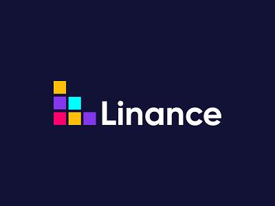Linance financial logo design financial gradient logo brandmark construction e-commerce logodesigner corporate logos modern appicon app modernlogo minimalist minimal logo design logo