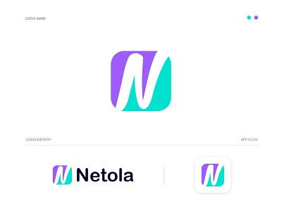 Netola  N letter logo design gradient logo brandmark construction e-commerce logodesigner corporate n letter logo n letter n logos technology modern appicon app modernlogo minimalist minimal logo design logo