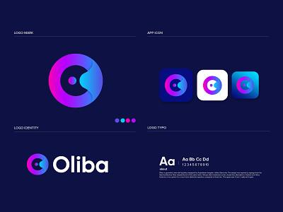Oliba o letter logo design gradient logo brandmark construction e-commerce logodesigner corporate o letter logo o letter o logos technology modern appicon app modernlogo minimalist minimal logo design logo