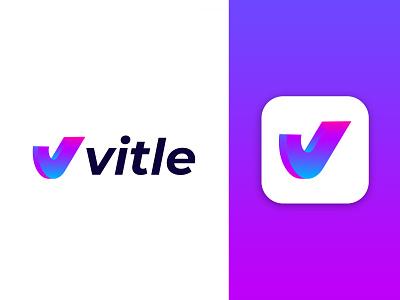 vitle  logo design isometric design brandmark e-commerce logodesigner corporate v letter logo v letter v logos technology modern appicon app modernlogo minimalist minimal logo design logo isometric