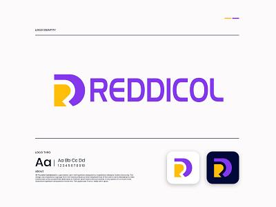 REDDICOL LOGO DESIGN brandmark construction e-commerce isometric logodesigner corporate dr letter logo dr letter dr logos technology modern appicon app modernlogo minimalist minimal logo design logo