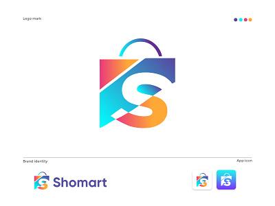 Shomart modern E-commerce logo design brandmark construction e-commerce isometric logodesigner corporate s letter logo s letter s logos technology appicon app modernlogo minimalist minimal logo design modern logo