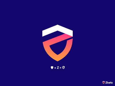 Zbeto Z shield logo design e-commerce isometric logodesigner corporate z letter logo z letter z logos technology appicon app modernlogo minimalist minimal logo design modern logo grdient shield logo shield