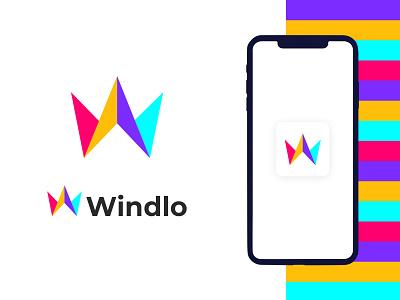 Windlo W letter modern logo design gradient logo brandmark construction e-commerce isometric logodesigner corporate w letter logo w letter w logos technology appicon app modernlogo minimalist minimal logo design modern logo