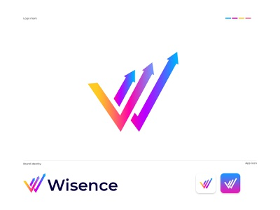Wisence financial w letter logo design brandmark construction e-commerce isometric logodesigner corporate w letter logo w letter w logos technology appicon app modernlogo minimalist minimal logo design financial logo financial