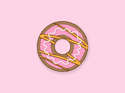 Donut illustration pink simple design simple illustration simple flat illustration flatdesign flat donut day donuts donut vector design illustration