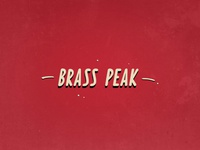 Daily logo challenge Day 8: Brass Peak in progress