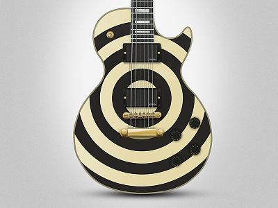 Les Paul Custom gibson illustration photoshop guitar