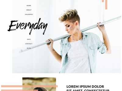 Everyday Theme for Go Live HQ design branding template design showit5 squarespace website design