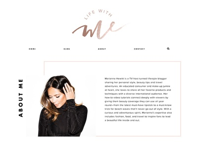 Life With Me website wordpress branding website design