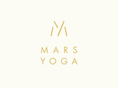 Mars Yoga logo concept process identity mark graphic design branding logo