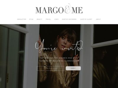 Subscribe page for Margo & Me fashion branding marketing ui design graphic design art direction web design