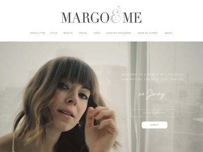 Margo & Me Subscribe page graphic design art direction design branding identity fashion website design marketing web design