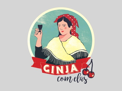 Ginja com elas branding visual identity identity graphic design design icon typography illustration logo