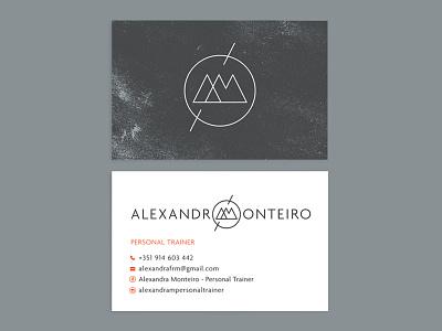 Alexandra Monteiro Personal Trainer icon logo illustration identity design graphic design branding