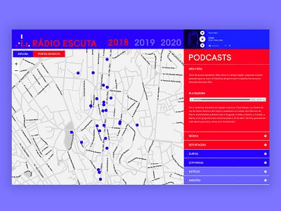 Rádio Escuta podcasts design wordpress web design