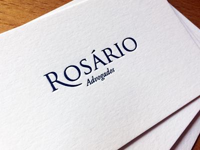 Rosário Advogados type typography logo identity graphic design design