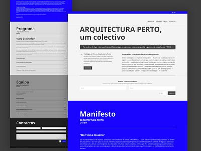 Arquitectura Perto wordpress ui web design