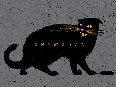 """He's a good cat, I swear"" cats illustration"