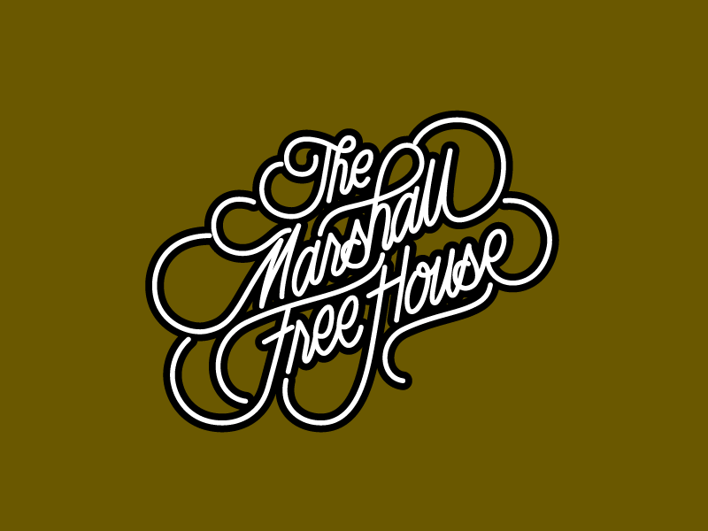 Marshall Free House Script script letters type
