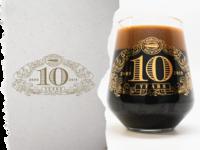 10th Year Anniversary Glass
