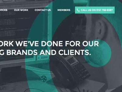 Snapshot of eSterling's new Portfolio page web design banner