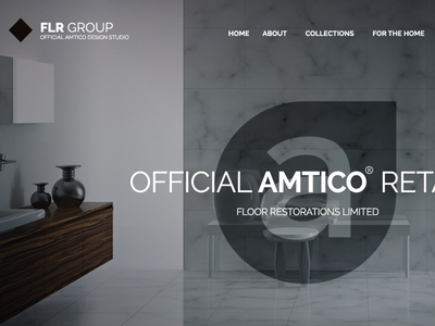 Website Banner Design slider flr group logo navigation typography