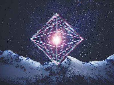 Geometric Experiment mountains galaxy geometric