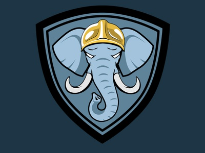 Elephant Logo logo branding design vector illustration xav motion education team kids sport sapeurs pompiers pompiers firemen firefighters elephant