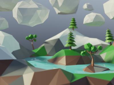 Lowpoly fun cycles 3drender lowpoly mograph xav animation blender 3d art design illustration motion