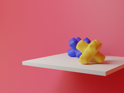 Inflation design shelf balloon ui colors 3d blender3d blender