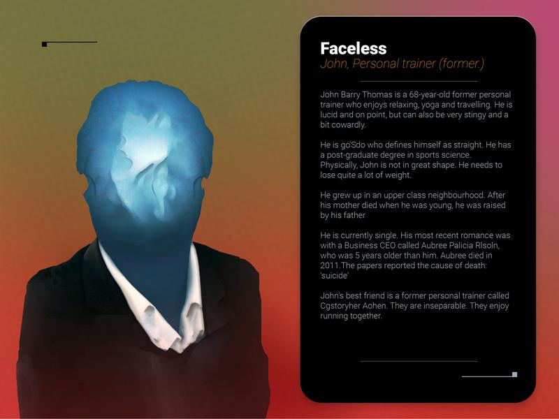 Faceless A1 sci-fi gimp character 2d