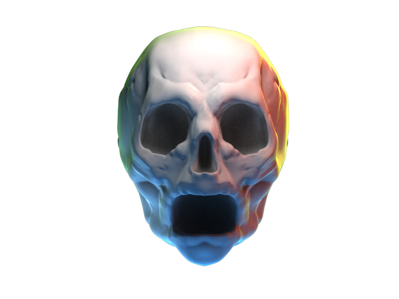 Deathly scream sculptris render head skull scream 3d